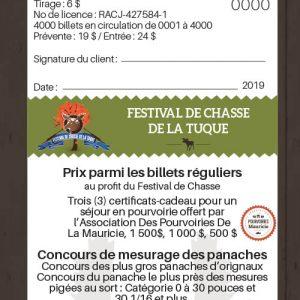 Billet régulier festival de chasse de La Tuque 2019